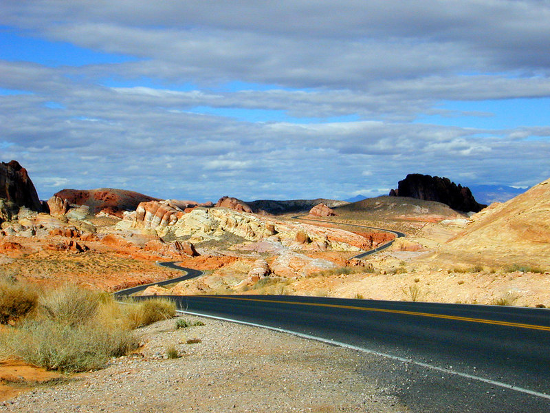 Valley of the Fire road, Nevada.