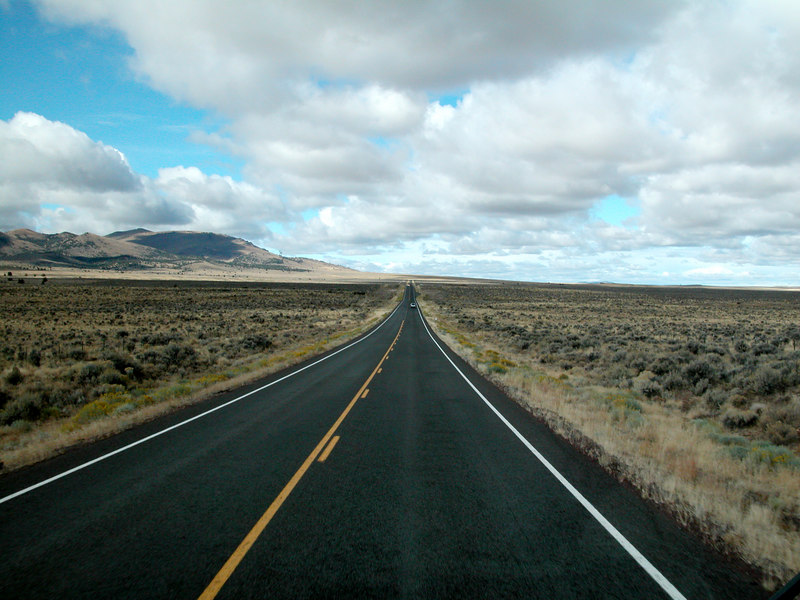 Eastern Oregon Desert road.