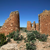 """Remains of """"The Castle"""" on the rim of Little Ruin Canyon at Hovenweek National Monument in southeast Utah. April 2010."""