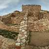 Tuzigoot National Monument (panorama, thus distorted). Cottonwood, Arizona. March 25, 2010. These ruins are almost 600 years old or more.