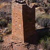 The 700 year old remains of a large tower built by native american Indian at what is now the Hovenweep National Monument in Utah. April 2010