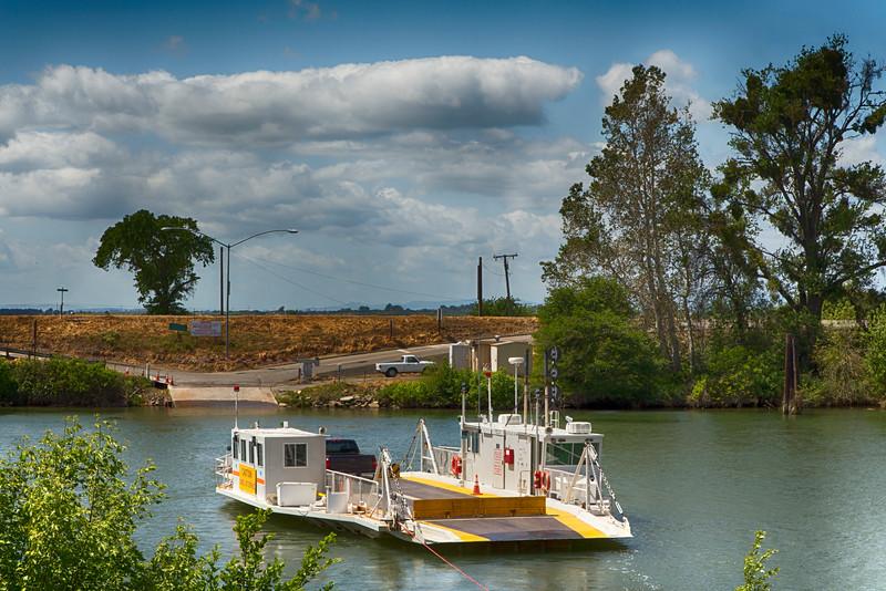 Ferry across the Sacramento River