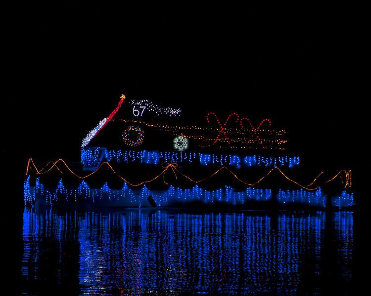 The Parade of Lights in Isleton, CA. December