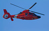 This US Coast Guard Search and Rescue helicopter (6537 from North Bend), was over the beach at Pacific City on Oct 25, 2012. The Aerospatiale SA366G1 Dauphin was selected by the United States Coast Guard in 1979 as its new short range recovery (SRR) air-sea rescue helicopter, replacing the Sikorsky HH-52A Sea Guard. In order to comply with american regulations relating to local content, engineering changes were required: most notably the french original Turbomeca Arriel engines were replaced with Lycoming LTS101 powerplants. The Dolphin normally carries a crew of four: pilot, copilot, flight mechanic and rescue swimmer.