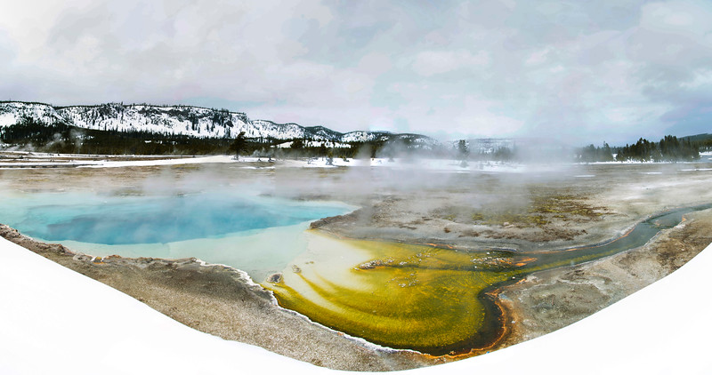 Biscuit Basin thermal pools