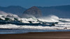 Haystack Rock and Neskowin Beach in Oregon with high surf. Oct 2012