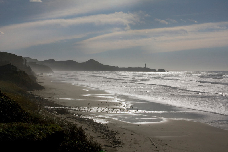 View of Oregon Coastline from Moolack Beach. Nov 2, 2009