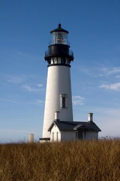 Yaquina Head Lighthouse near Newport, Oregon. Nov 2, 2009