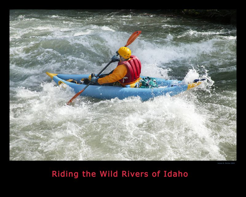Whitewater Rapids on River in Western Idaho