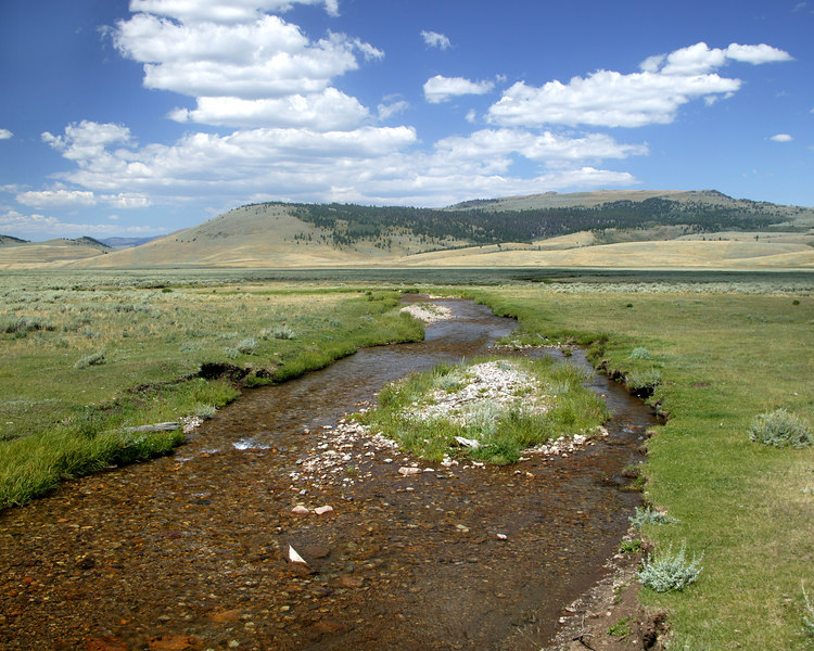 This is the start of Red Rock Creek. This is the most likely spot of the source of the Missouri River, about 3800 miles from here to the Gulf of Mexico. This is in the Centennial Valley, Montana.