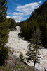 Lamar River after weeks of rain with snow melt in Yellowstone National Park. June 8, 2010.