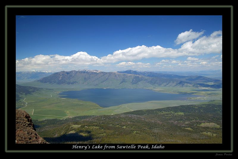 View from SawTelle Peak of Henrys Lake 2004