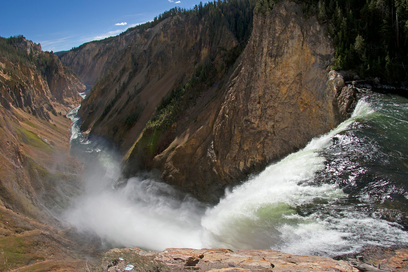 Wide view of Lower Yellowstone Falls
