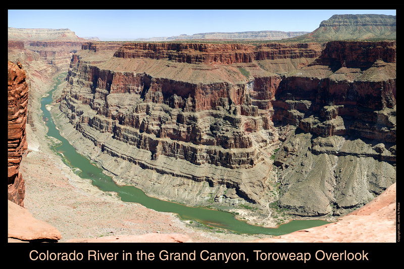 Toroweap Overlook of the Colorado River and Grand Canyon on the North Rim. 60 miles down a dirt road in Arizona.