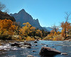 Virgin River flowing through Zion National Park, Fall.