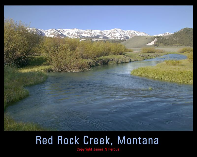 Red Rock Creek MT with Centennial Mountains  in background