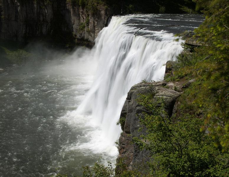Mesa Falls along the Henry's Fork of the Snake River near Island Park, Idaho.