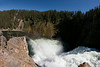 Brink of Upper Yellowstone Falls with rainbow