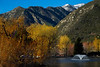 Colorized image of Mountain Lakes RV Resort at Lytle Creek, CA in winter. Jan 2013