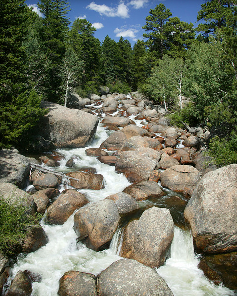 Thompson River in Rocky Mountain National Park, Colorado.