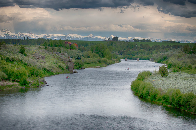 Henry's Fork of the Snake River and Tetons
