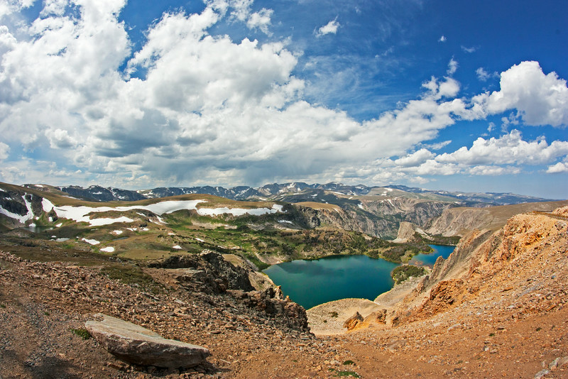 Twin Lakes in the Beartooth Mountains, WY