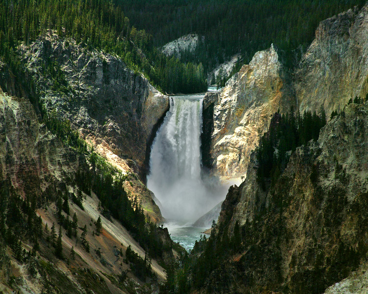 Lower Falls of the Yellowstone River.