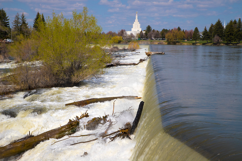Morman Temple on the Snake River