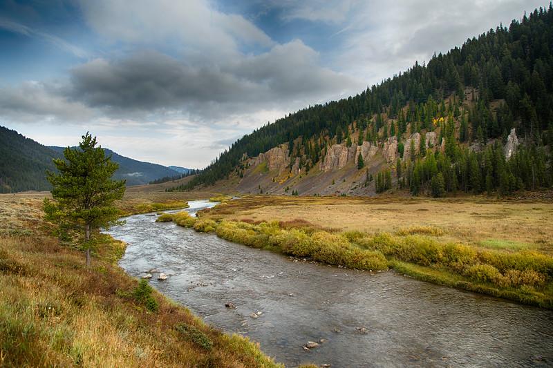 Gallatin River in Fall