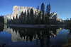 Panorama of El Captain and Three Sisters reflected in the Merced River in Yosemite National Park. Print as 24 x 16 or 12 x 8. High Resolution for good print. Nov 6, 2008