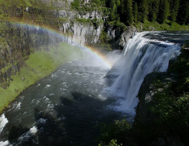 Upper Mesa Falls along the Henry's Fork of the Snake River near Island Park, Idaho.