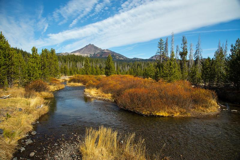 Fall Creek and South Sister Peak
