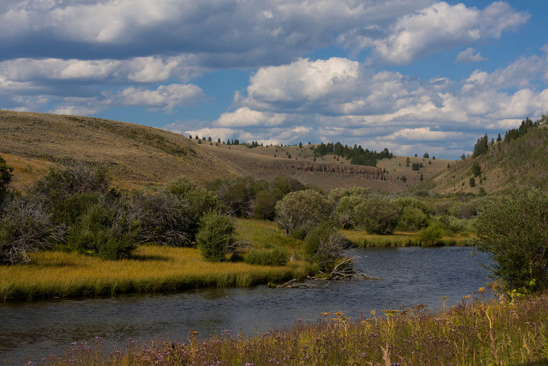 Elk Springs Creek and Elk Lake Canyon, Montana. Aug 18, 2011