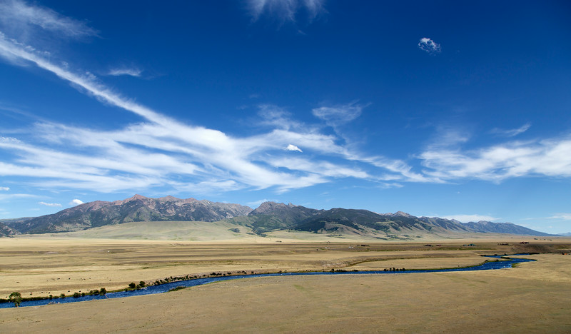 Madison River and Madison Range, Montana