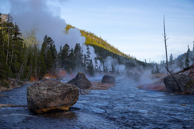 Cold Morning on the Gibbon River, Yellowstone