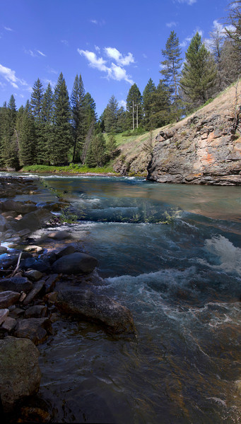 Gallatin River, Montana. July 8, 2012.