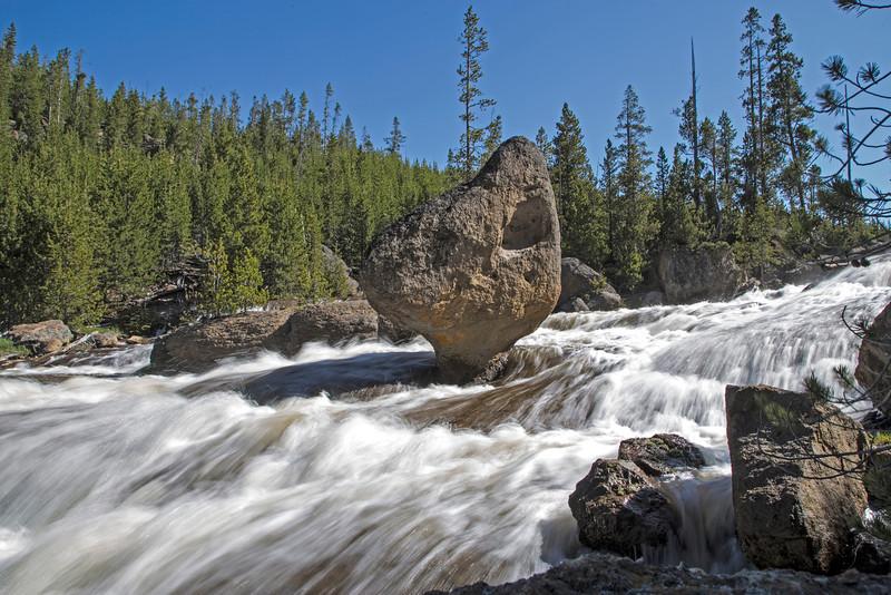 Gibbon River Eroded Rock