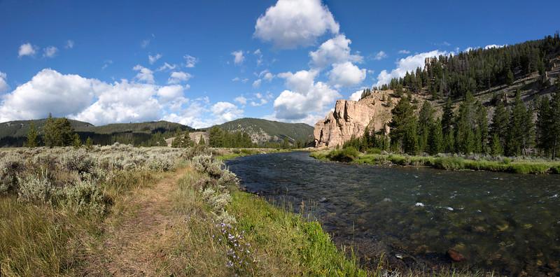 Gallatin River scene, Montana. August 3, 2012.