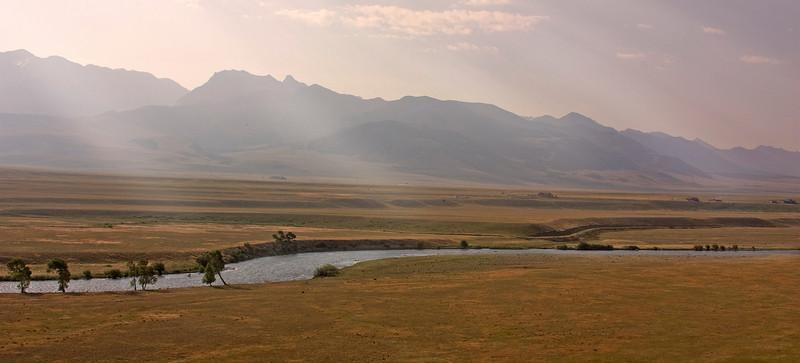 Madison River and Madison Range, Montana. July 2008.