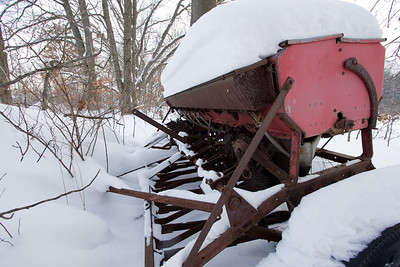My favorite piece of junk, in the snow