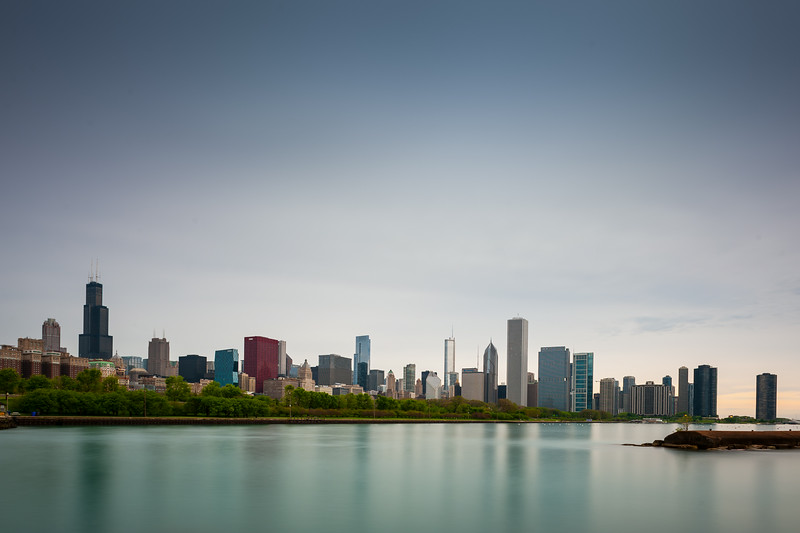 City at Sunup, Chicago