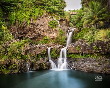 Waterfalls at 'Ohe'o Gulch, Kipahulu, Maui