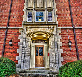 Door to Roberts Hall