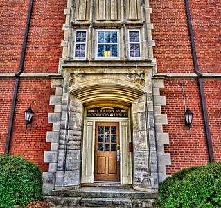 Door to Roberts Hall