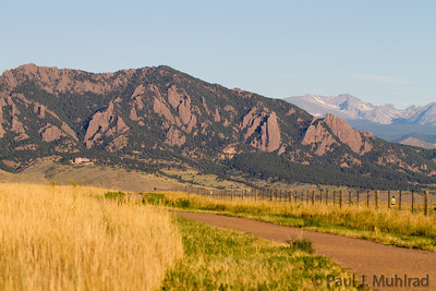 Green Mountain and the Flatirons from Davidson Mesa