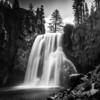 Rainbow Falls in Black & White