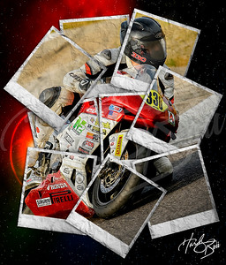 Red Flare Moto Collage