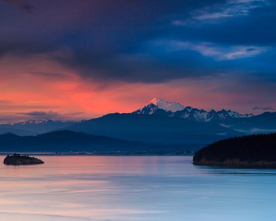 Rosy Sunset on Mount Baker