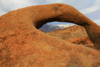 Mobius Arch and Sierra Nevadas