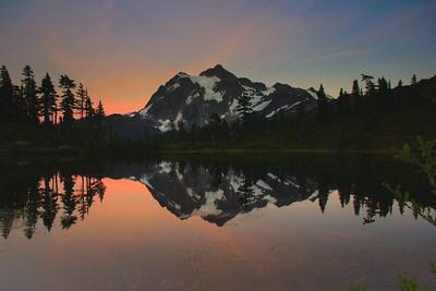Mount Shuksan at twilight